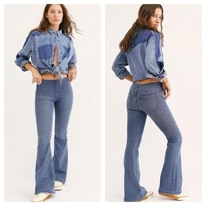 - NWT Free People Penny Pull-On Flare Jeans 28
